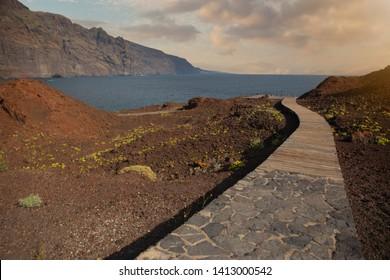 Coast at Taganana in Tenerife island - Canary Spain
