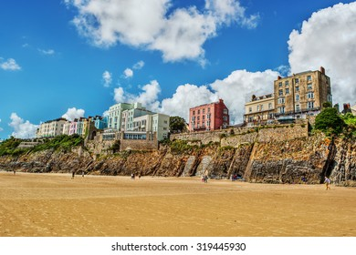 Coast in Tenby (Wales), HDR-technique