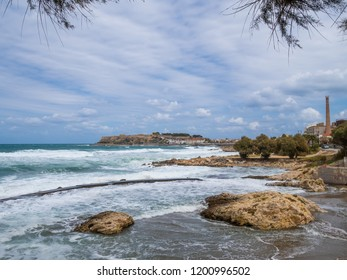 Coast town of Rethymno, Crete island, Greece