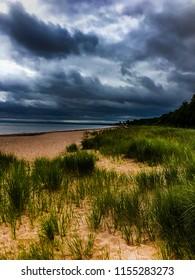 Coastal beach in Nova Scotia