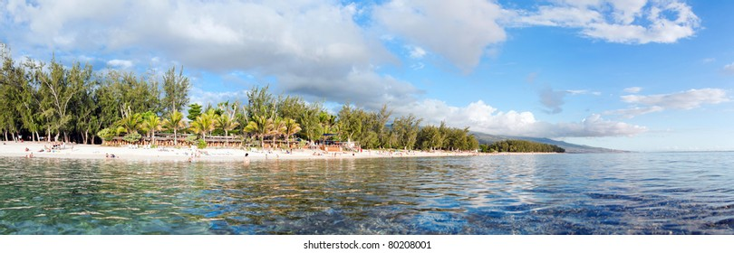 Coastal beach of Reunion Island