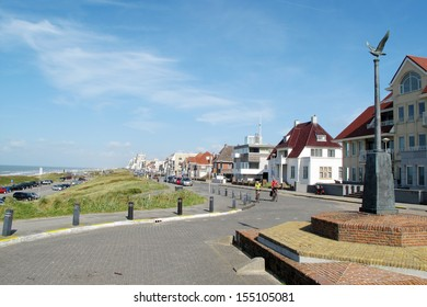 Coastal boulevard in Noordwijk, Netherlands, Europe.