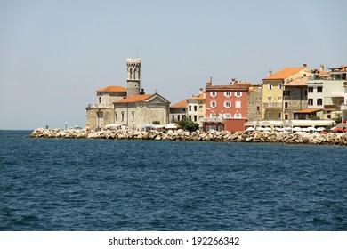 Coastal city Prian in Slovenia