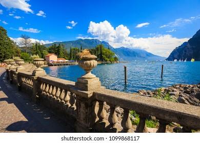 coastal city town by lago di garda lake