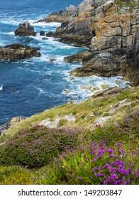 coastal cliffs in Brittany France