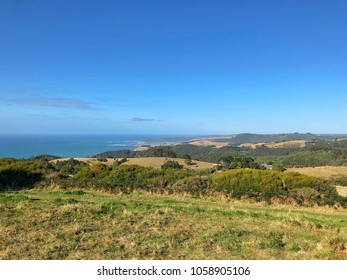 Coastal County landscape with rolling hills over looking Ocean