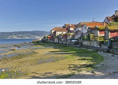 Coastal edge of the seaside village of Combarro