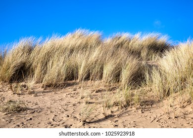 Coastal erosion at the beach of Burry Port Carmarthenshire Wales UK