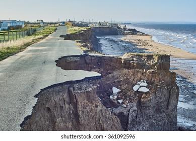 Coastal Erosion at Skipsea, East Yorkshire