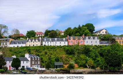 Coastal and fishing village of Portree on the beautiful Isle of Skye, Scotland