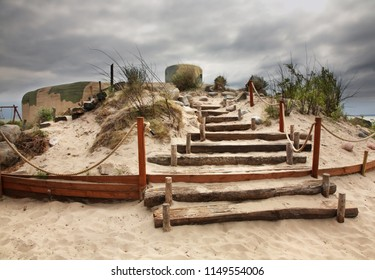 Coastal Fortifications near Jastarnia. Hel Peninsula. Poland