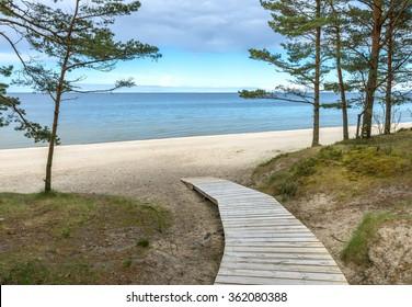Coastal landscape at the famous resort of Jurmala, Latvia
