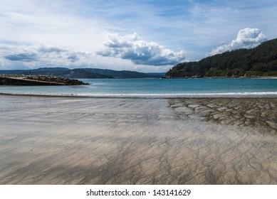Coastal landscape from Galician coast, Spain.