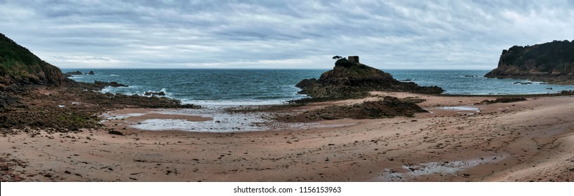 Coastal landscape on Jersey, Channel islands