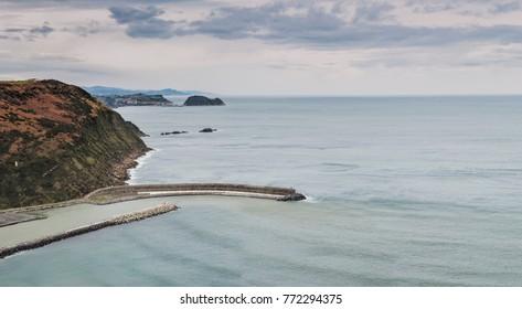 Coastal landscape of Orio and Getaria in the background. (Euskadi, Spain)