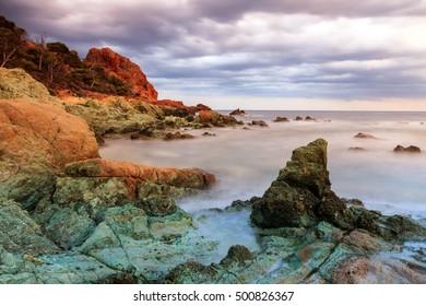 Coastal landscape of the Riviera