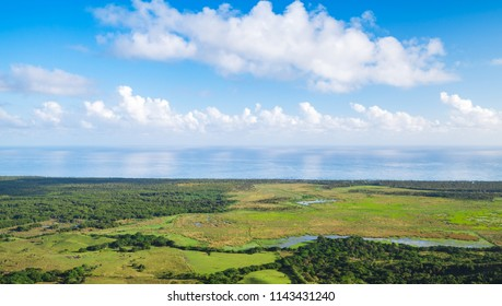 Coastal landscape taken from Montana Redonda, Dominican Republic