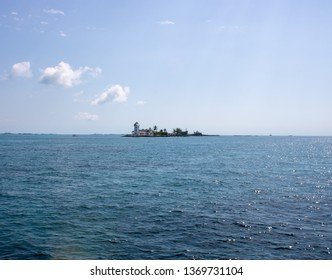 Coastal landscape taken in Nassau in The Bahamas showing the beautiful clear blue Skys