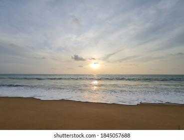 Coastal miinute before sunset moment