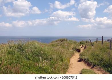 Coastal path above Sheringham in North Norfolk