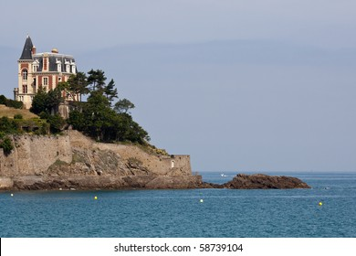 The coastal path at Dinard in France and the magnificent architecture