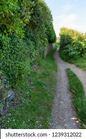 Coastal path in Portscatho, Roseland Peninsula, Cornwall, UK