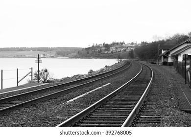 Coastal Railroad Tracks