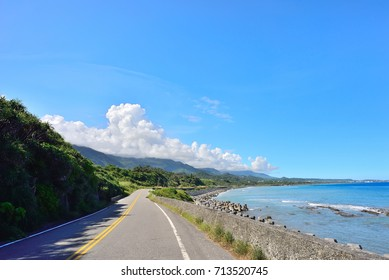 The Coastal Road with Sea and Sky