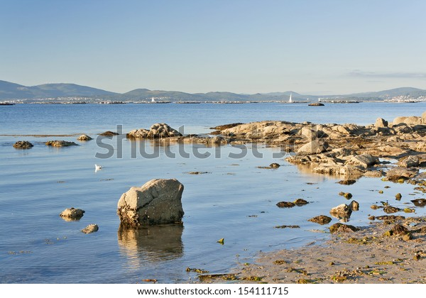 Coastal rocks at Aguiuncho beach on Arousa Island