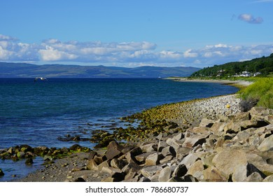 Coastal Scottish landscape near Lochranza  in the Isle of Arran, Scotland