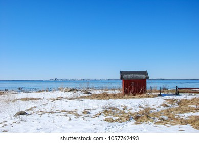 Coastal springtime view at the swedish island Oland in the Baltic Sea