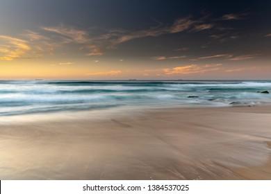 Coastal Sunrise Seascape - from Redhead Beach. Redhead is a coastal suburb of the City of Lake Macquarie in New South Wales, Australia