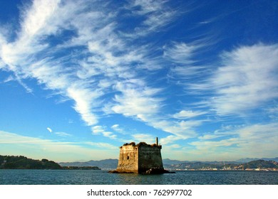 Coastal tower seen from the boat
