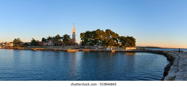 Coastal town of Novigrad on the Istria Peninsula in Croatia - panorama