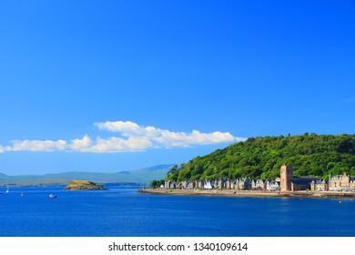 Coastal town of Oban, Scotland, UK