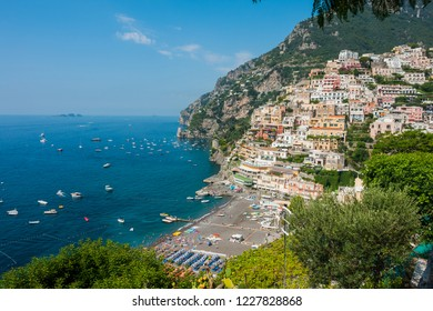 Coastal towns in Capri, Italy. Positano, and Amalfi coast
