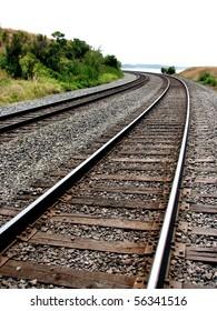 Coastal train tracks