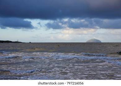 Coastal view at Aisha Craig, Maidens Scotland