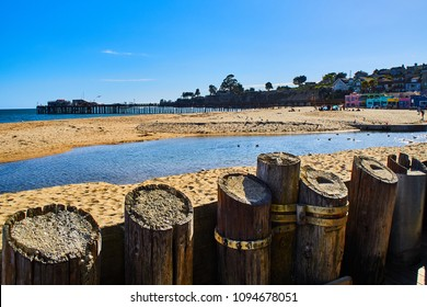 Coastal view of Capitola from the beach