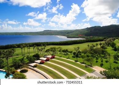 Coastal view of the Lao Lao Bay Golf & Resort in Kagman, Saipan.