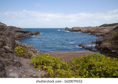 Coastal view of Presqu'ile de la Caravelle, Tartane, Martinique, Caribben