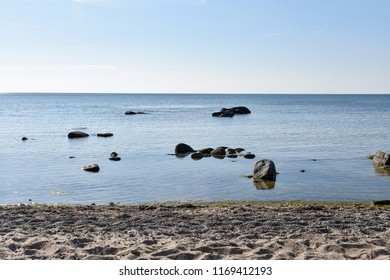 Coastal view from the swedish island Oland in the Baltic Sea
