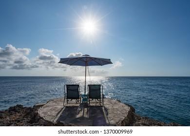 Coastal  Views arund the small caribbean Island of Curacao