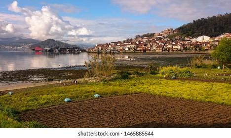 Coastal village of Combarro in Galicia, Spain