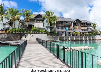 Coastal village of Grand Baie, Mauritius, Africa