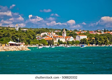 Coastal village of Sveti Filip I Jakov waterfront view, Dalmatia, Croatia