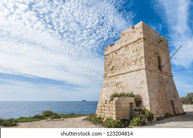 Coastal watch tower near Blue Grotto in Malta