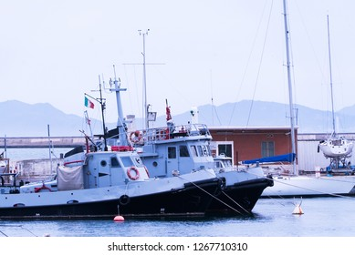 Coastguard boats in Italian port