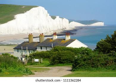 Coastguard houses at Seven Sisters