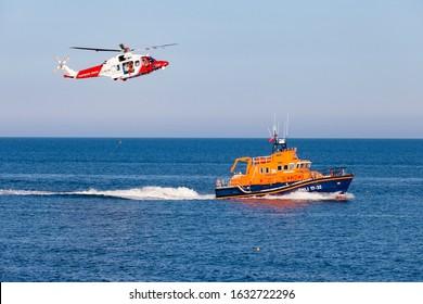 Coastguard and Lifeboat Rescuers  Weymouth Dorset